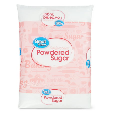(3 Pack) Great Value Confectioners Powdered Sugar, 2 Lb