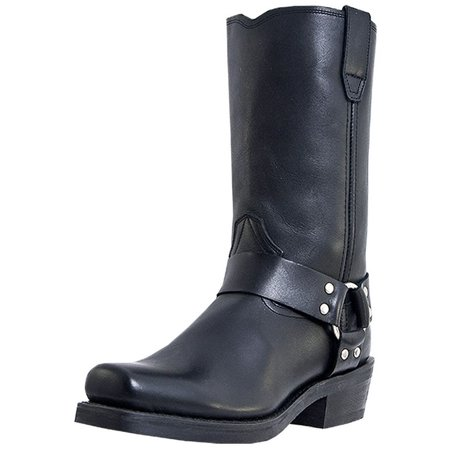 Dingo Dingo Motorcycle Boots Mens Leather Jay Harness Black