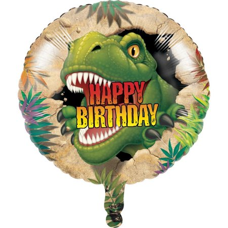 Creative Converting Dino Blast Metallic Balloon 18
