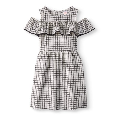 Girls' Ruffle Overlay Cold Shoulder Dress for $<!---->