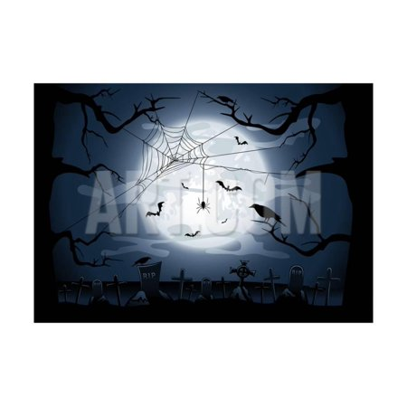 Scary Halloween Night Print Wall Art By losw