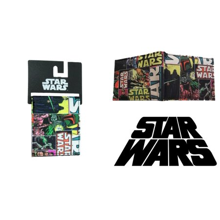 Superheroes Star Wars Imperial Classic Comic Covers Bi-fold Mens Boys  Wallet with Gift Box