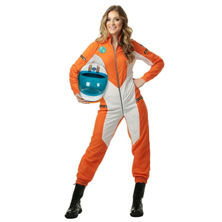 Astronaut Jumpsuit for Plus Size Women - Orange Prison Jumpsuit
