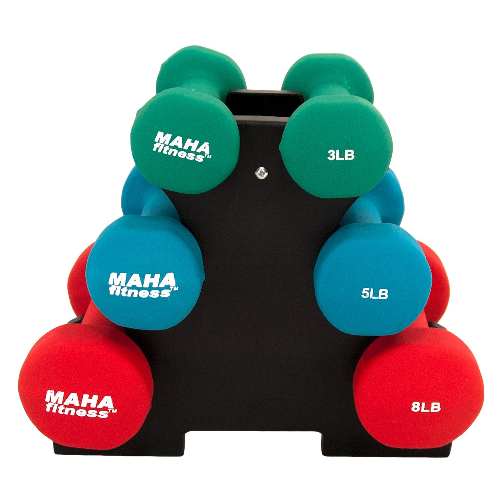 Bliss Maha Dumbbell Set With Stand 32 Lbs