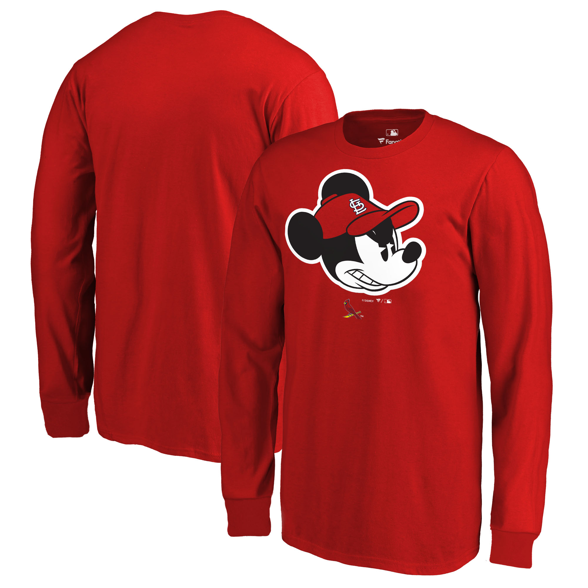 St. Louis Cardinals Fanatics Branded Youth Disney Game Face Long Sleeve T-Shirt - Red