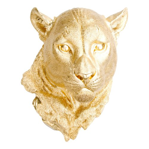 Near and Deer Lion Head Faux Taxidermy Wall D cor