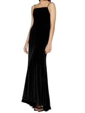 e822650e Product Image Fame and Partners NEW Black Womens Size 10 Velvet Draped Sheath  Dress