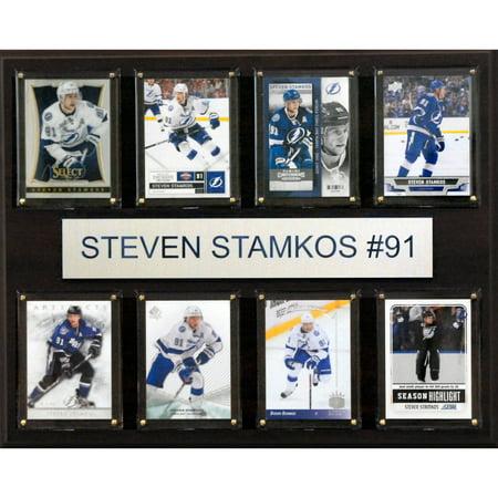 - C&I Collectables NHL 12x15 Steven Stamkos Tampa Bay Lightning 8-Card Plaque