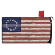 Betsy Ross Flag Patriotic Mailbox Cover Fourth of July Rustic Standard