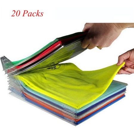 20Packs EZSTAX Clothes Organizer System Fold Board File Cabinet Organization for Home Desktop Storage,File Storage,Travel Admission,Bedroom Storage