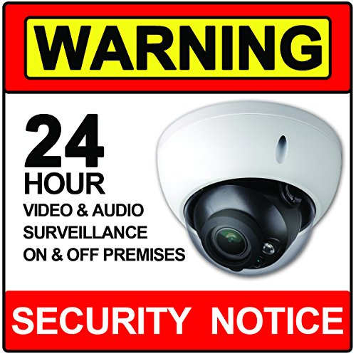 Security Audio & Video Surveillance Stickers