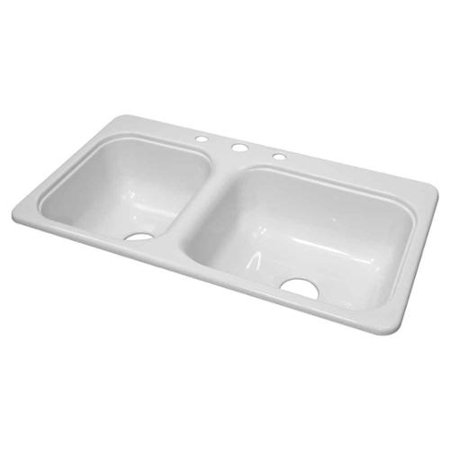 Kitchen Sink 33 X 19 Mobile home sinks 33x19 kitchen utility sinks compare prices lyons industries dks01cb 35 white 33 in x 19 in manufa workwithnaturefo