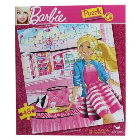 Barbie Jigsaw Puzzle - 48 Pc, Assorted Prints, 9.125x10.37\