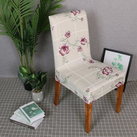 Printed Chair Cover Soft Milk Silk Home Seat Protector Stretch Anti Dust - image 3 de 7