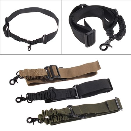 ZeAofa 1 Single Point Outdoor Adjustable Bungee Rifle Sling Strap System Buckle (Bungee System)