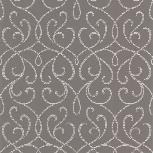 Brewster DL30447 Alouette Grey Mod Swirl Wallpaper