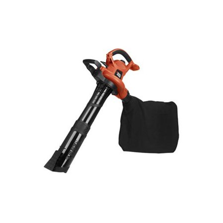 BLACK+DECKER 120V 12 Amp 250 MPH High Performance Blower with Reusable & 2 Disposable Bags Orange