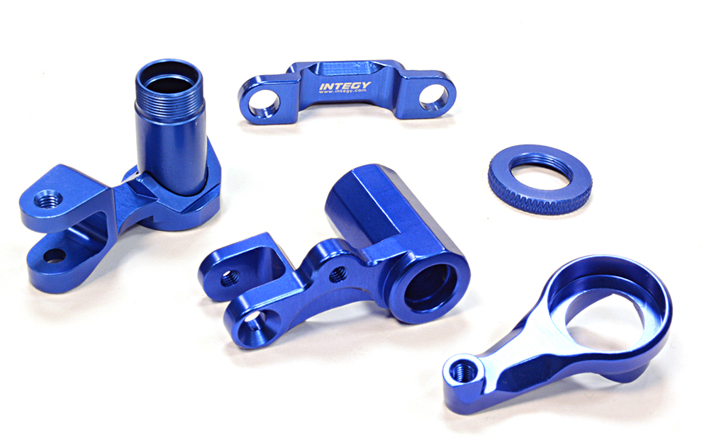 Integy RC Toy Model Hop-ups C25811BLUE Billet Machined Steering Bell Crank for Traxxas 1... by Integy