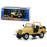"""1980 Jeep CJ-5 Yellow (Julie Roger's) """"Charlie's Angels"""" (1976-1981) TV Series 1/43 Diecast Model Car  by Greenlight"""