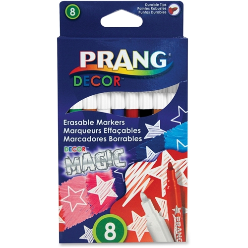 Prang Decor Magic Erasable Markers, Pack of 8, Assorted