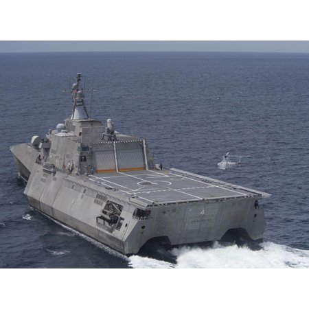 LAMINATED POSTER An MQ-8B Fire Scout unmanned helicopter prepares to land aboard the littoral combat ship USS Coronad Poster Print 24 x 36](Scout Helicopter)