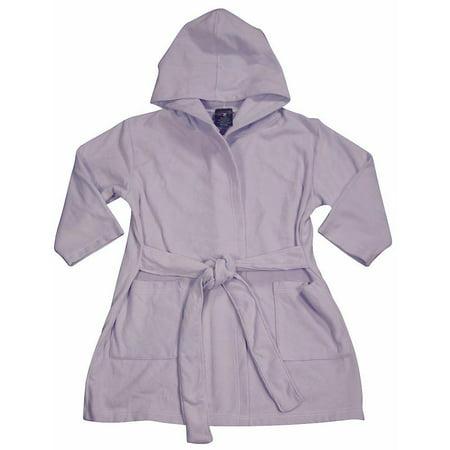 WXY Boys Hooded Fleece Robe Lavender / 2/3