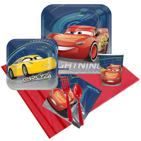 Disney Cars Party Pack (For 8 - Card Party Supplies