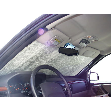 The Original Windshield Sun Shade, Custom-Fit for Jeep Grand Cherokee SUV 1999, 2000, 2001, 2002, 2003, 2004, Silver (2002 Jeep Grand Cherokee Heated Seats Not Working)