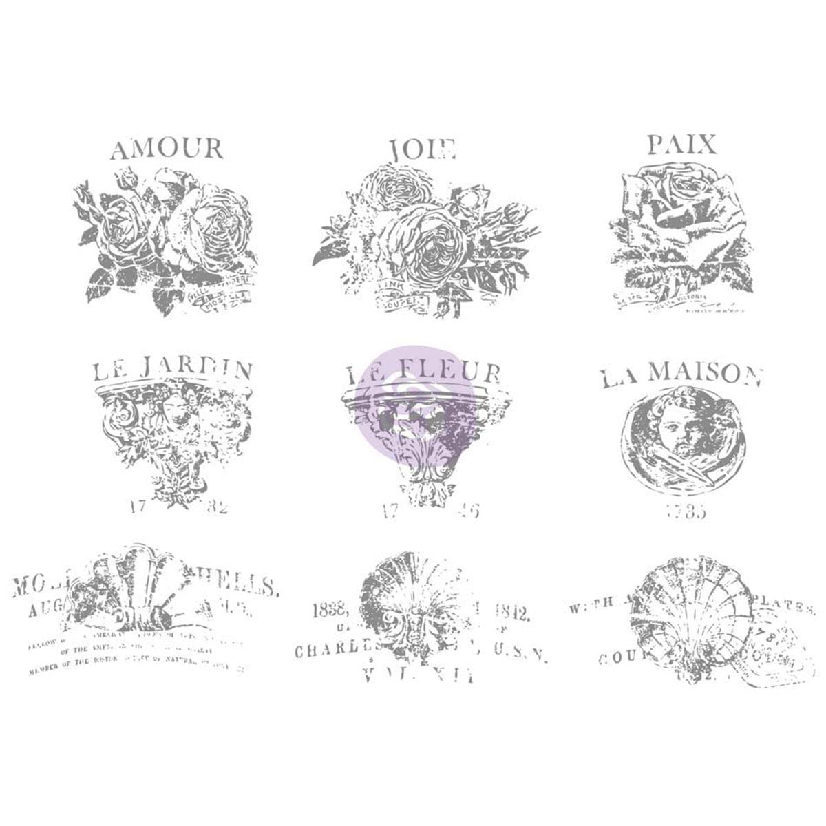 "Iron Orchid Designs Decor Transfer Rub-Ons-4"" Pot, 12""X8.5"""