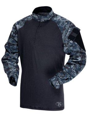 Tru-Spec 2571 1/4 Zip Tactical Response Combat Shirt, Midnight Digital, XS