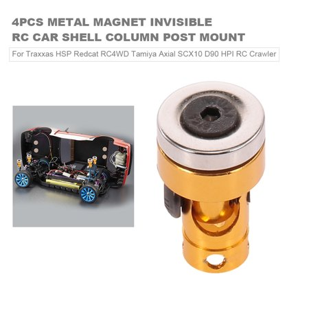 4pcs RC Car Shell Column Post Mount Metal Magnet Invisible for Traxxas HSP Redcat RC4WD Tamiya Axial SCX10 D90 HPI RC Crawler ()