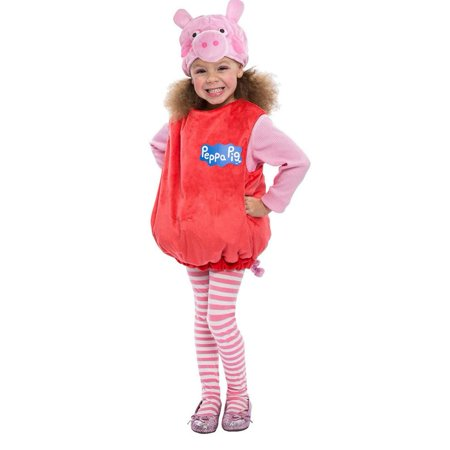 Pig Costume Pattern (Peppa Pig Bubble Costume Girls Toddler Kids size 2T Licensed Outfit)