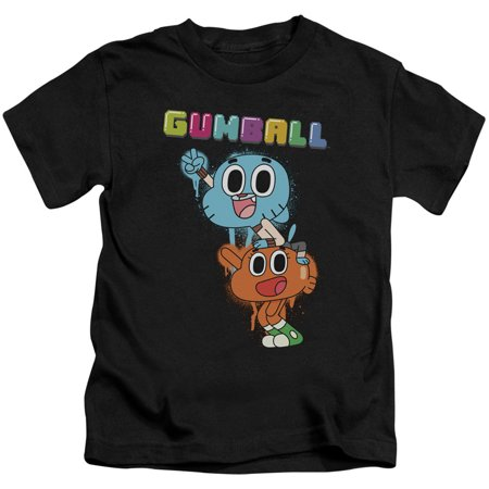 Amazing World Of Gumball Boys' Gumball Spray Childrens T-shirt Black - Childrens Clothes Shops