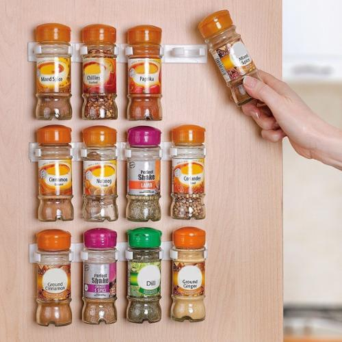 Spice Rack, Spice Racks for 20 Cabinet Door, Use Spice Clips for Spice Organizer Spice Storage Spice Clips