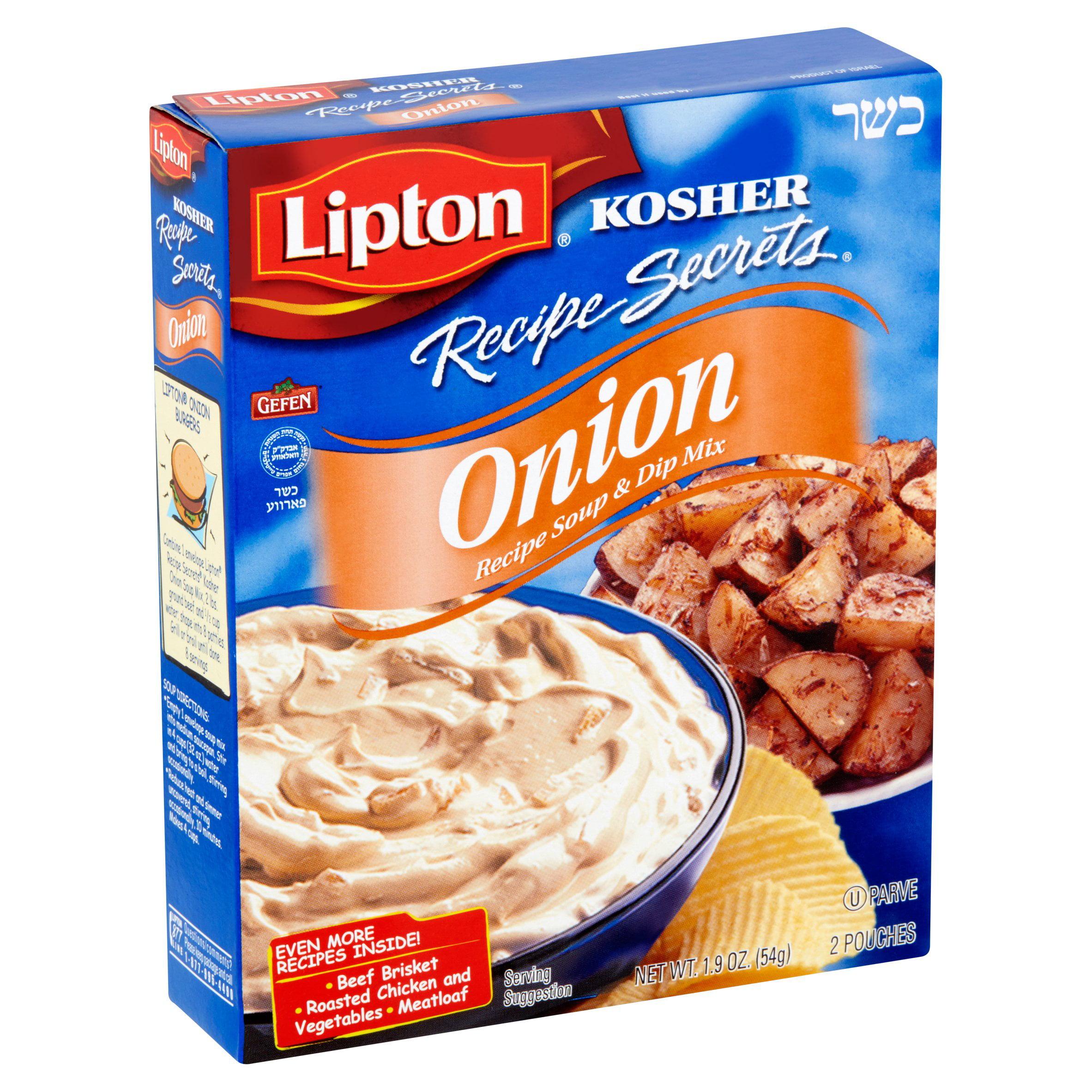 4 Pack Lipton Onion Soup Mix 7 6 Oz Walmart Com Walmart Com