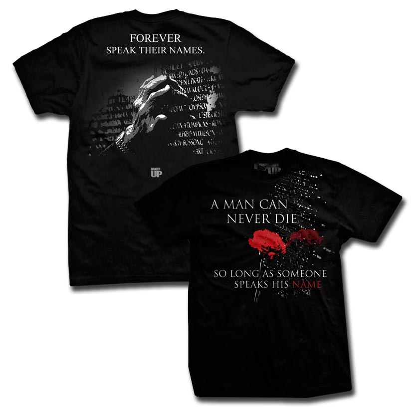 Ranger Up A Man Can Never Die T-Shirt - Black