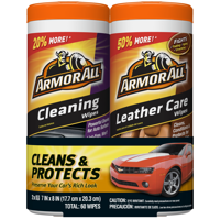 Armor All Cleaning & Leather Care Wipes (2 x 30 count)
