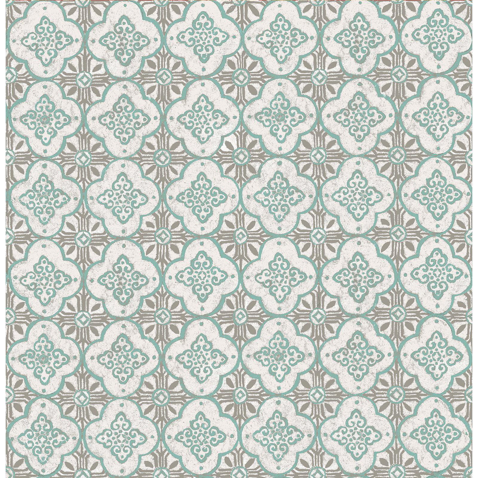 Image of A - Street Prints Kismet Geo Quatrefoil Wallpaper