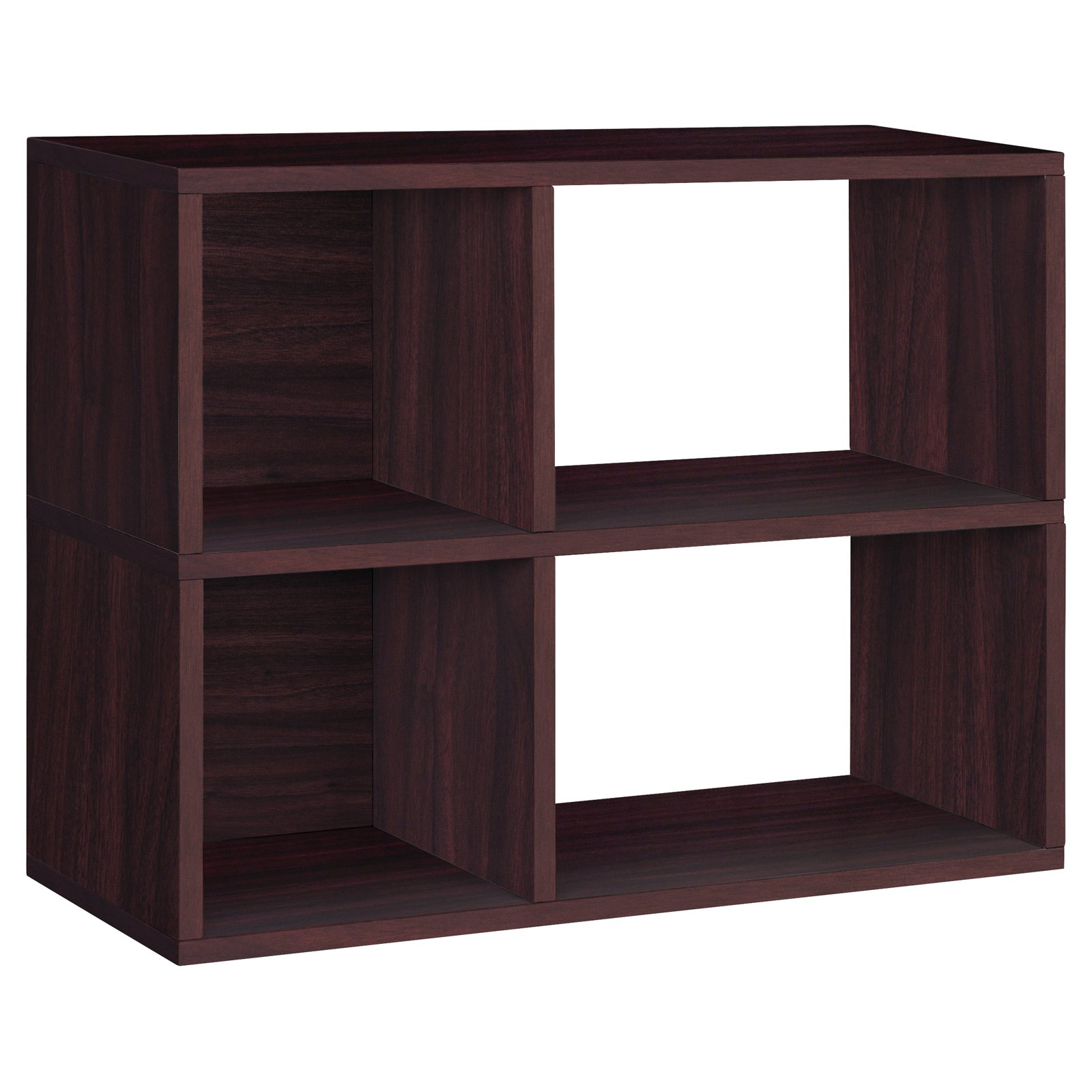 Way Basics Eco 2-Shelf Chelsea Bookcase and Cubby Storage, Espresso