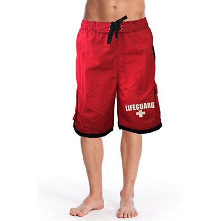 eff55f9258 Officially Red Men's Board Shorts Swim Trunks with Side Pocket, Men and  Boys, Great