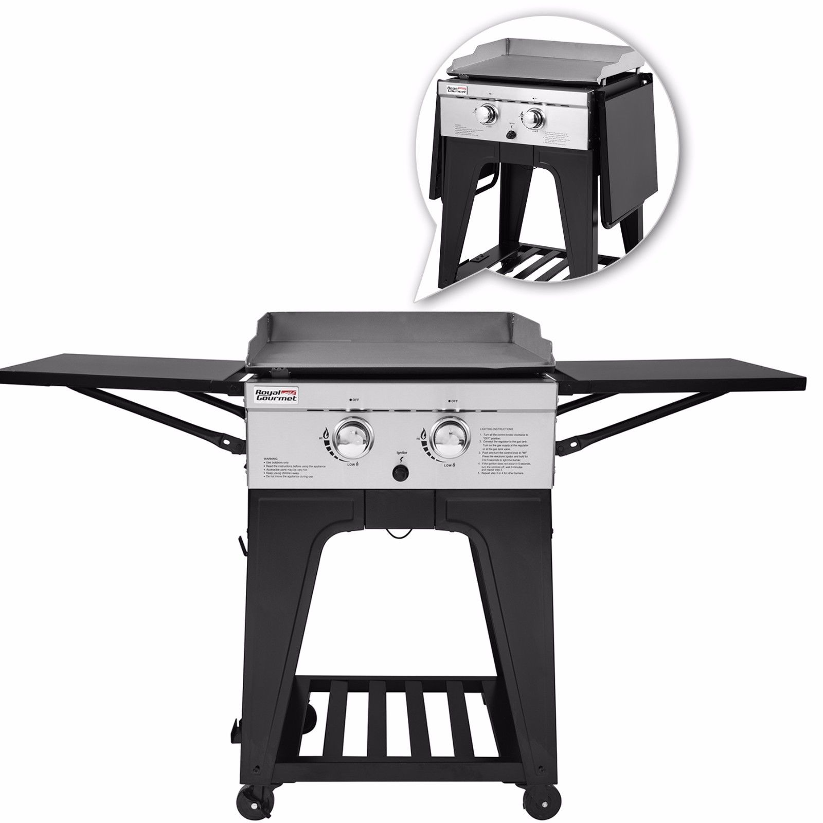 Royal Gourmet GB2000 2-Burner BBQ Gas Propane Grill Griddle