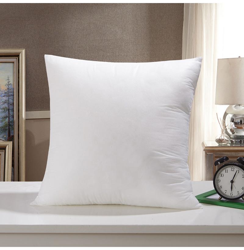 Premium 18 X18 White Cotton Feel Microfiber Square Sham Euro Sofa