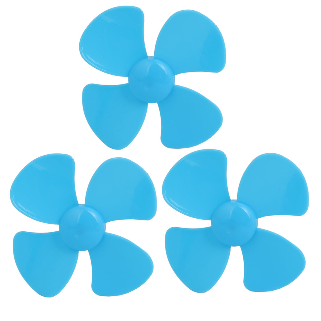 3PCS Brushless Motor 4 Vanes RC Boat Airplane Propeller 3-inch Dia Blue