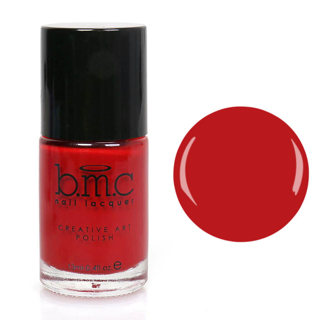 BMC Nail Stamping Lacquers - Creative Art Polish Collection - Red Hot