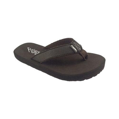 Flojos 836777233798 Childrens Brody Flip Flop, Brown Size 3 by Flojos