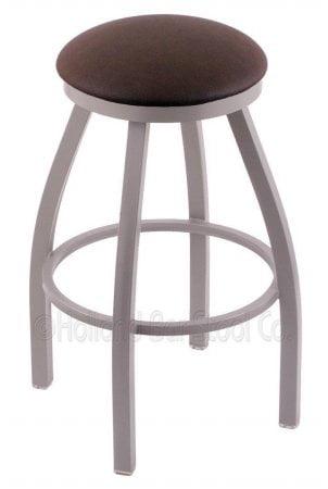 """XL 802 Misha 36"""" Bar Stool w  Anodized Nickel Finish Rein Coffee Seat by Holland Bar Stool Co"""
