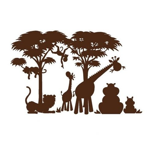 Elephants On The Wall Large Silhouette Safari Wall Mural Part 1