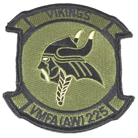 Vikings Applique (US Marine Corps VMFA (AW) 225 VIKINGS Hook/Loop Patch - Veteran Owned Business )