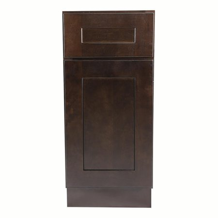 Design House 613612 Brookings Fully Assembled Shaker Base Kitchen Cabinet 15x34.5x24, Espresso Assemble Kitchen Cabinets