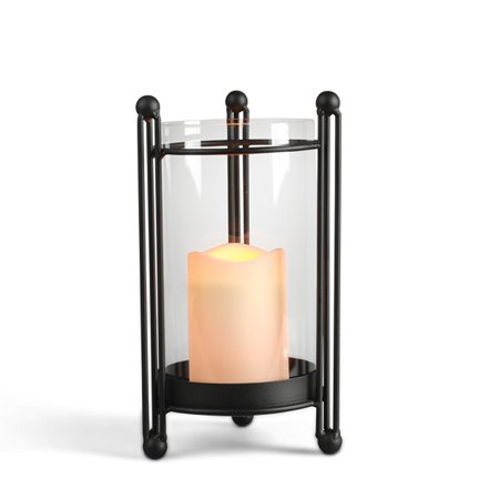 Gerson Everlasting Glow Black Metal Table Top Candle Holder with LED Candle (Foods That Glow Under Black Light)